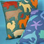 Como hacer almohadones con siluetas de animales