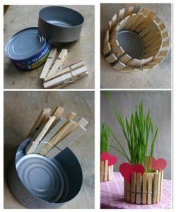 como hacer sencillos porta papel con pinzas de madera.