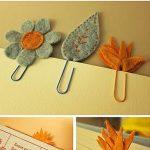 Como hacer marcalibros de fieltro con forma de hojas