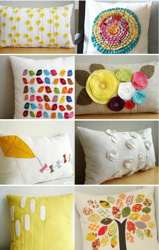 Bonitas Ideas Para Decorar Almohadas Con Fieltro Y Tela
