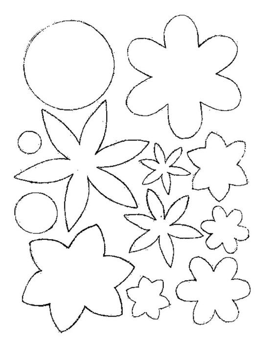 Patrones para flores fieltro - Imagui