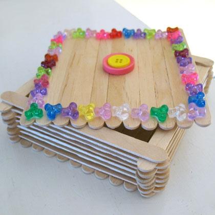 Como hacer un joyero con palitos de madera - Como hacer un joyero de madera ...