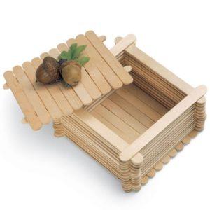 faciles y bonitos joyeros hechos con palitos de madera.