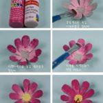 Como hacer flores de cajas de huevo (4)