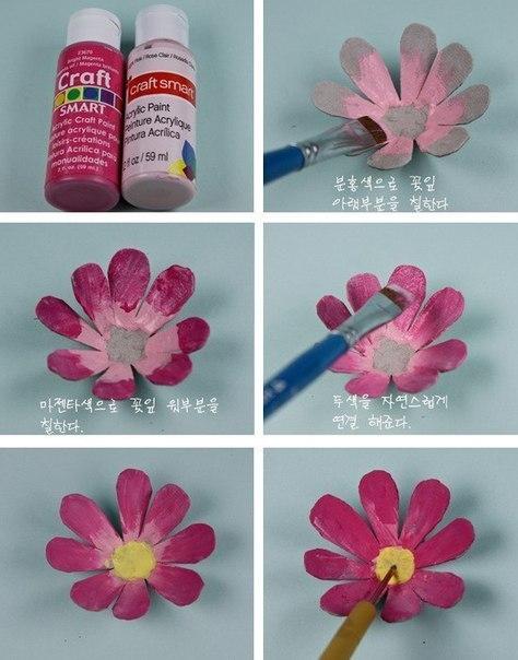 Como Hacer Flores De Cajas De Huevo