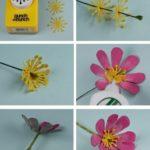 Como hacer flores de cajas de huevo (5)