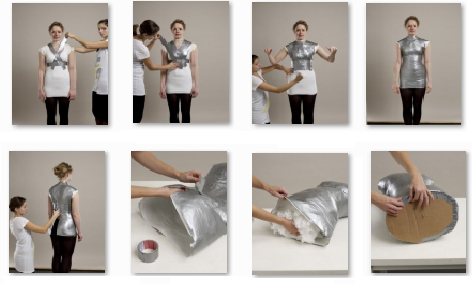 Ideas de como hacer un maniqui casero con cinta industrial