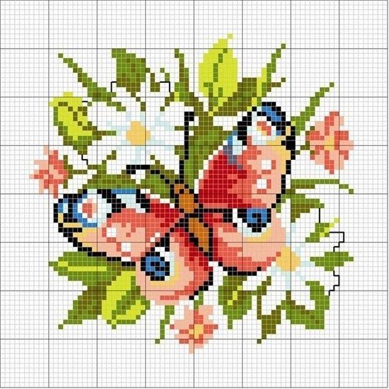 Mariposas en punto de cruz patrones gratis (3)