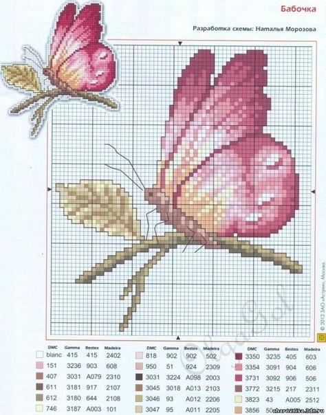 Mariposas en punto de cruz patrones gratis (5)