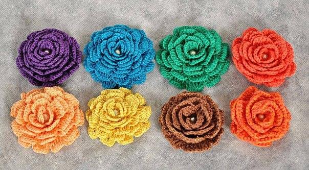 Patrones de flores a crochet gratis