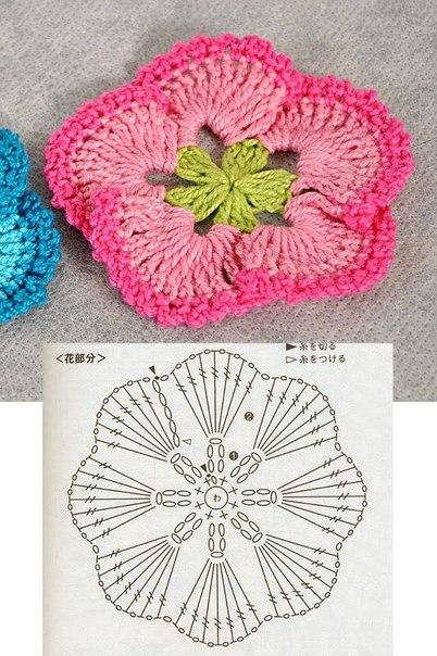 Patrones gratis flores crochet - Imagui