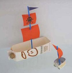 Como hacer un barco con materiales reciclados.