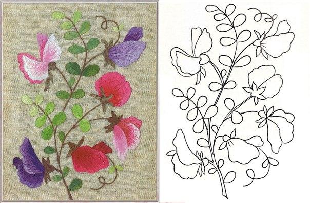 Plantillas Para Bordar Flores Www Imagenesmy Com