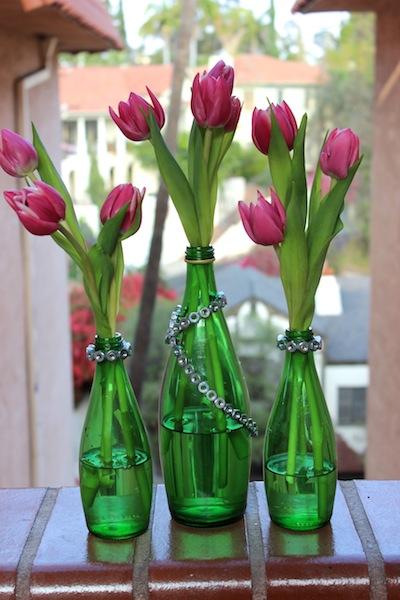 Como hacer floreros con botellas de vidrio recicladas - Fabrica de floreros de vidrio ...