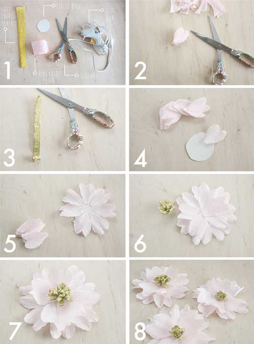 Como hacer flores de papel crep - Como hacer rosas de papel ...