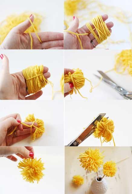 Como hacer pompones para flores - Para hacer pompones de lana ...