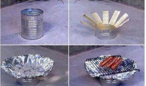 Como hacer un asador con latas recicladas.