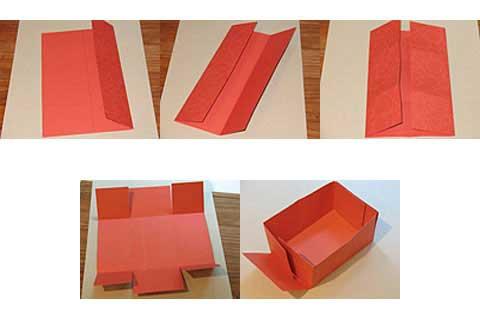 Como hacer una canasta de cartulina for 1 cuarto de cartulina
