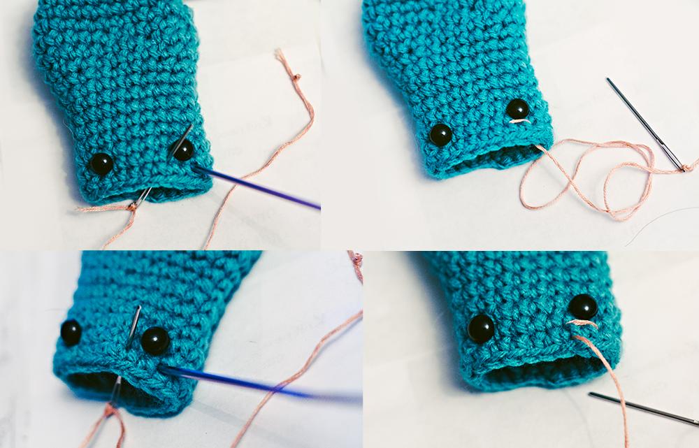 Como hacer un calamar de peluche tejido a crochet