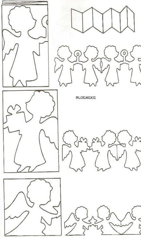 Como hacer guirnaldas de papel de angelitos - Como hacer guirnaldas de navidad ...