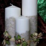 Como decorar velas con letras