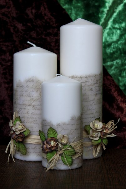 Como decorar velas con letras for Decorar jarrones con velas
