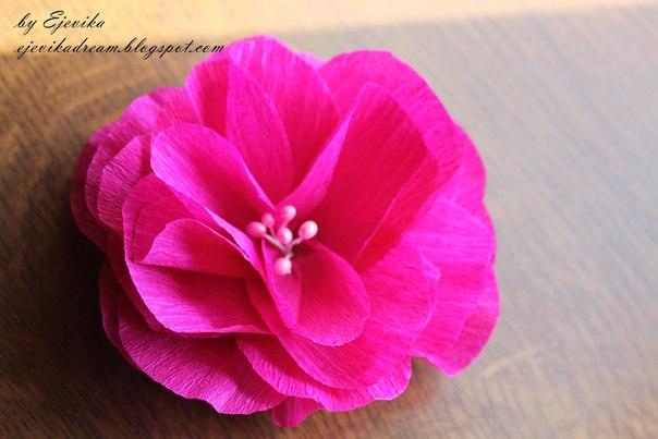 Como Hacer Flores Faciles De Papel Crepe 1