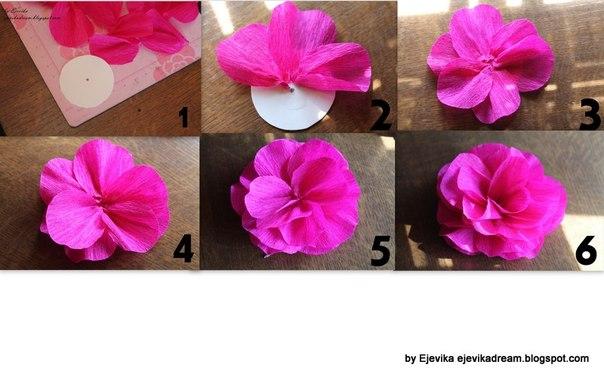 Como hacer las flores de papel crepe imagui - Como se hacen flores de papel ...