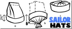 Como hacer sombreros de marinero facilmente