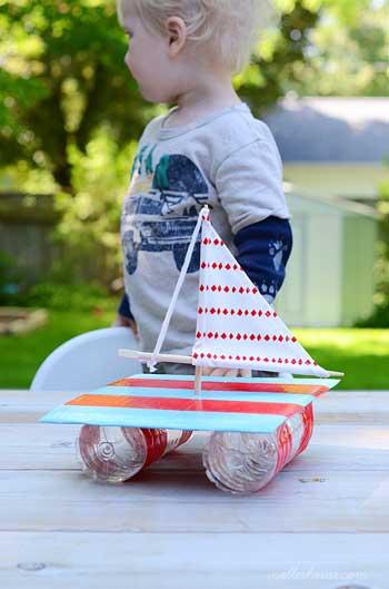 Como hacer un barco con materiales reciclados