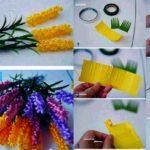 Como hacer un ramo de flores de papel crepe