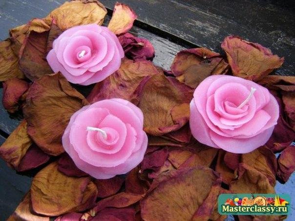 Como hacer velas con forma de rosas (1)