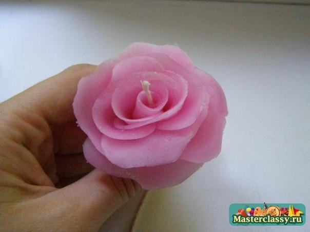 Como hacer velas con forma de rosas (4)