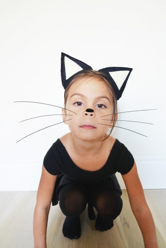 Disfraz de gato negro para halloween