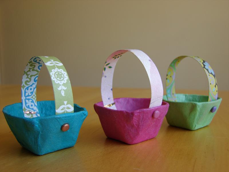 Canasta Para Huevos Manualidades.Mini Canastas Hechas Con Carton De Huevo
