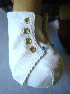Molde para hacer botines para bebe (7)