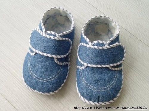 Molde para hacer zapatos para bebes