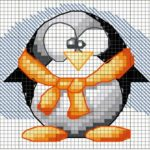 Patron de Pinguinos en punto de cruz