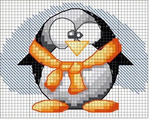 Patron de Pinguinos en punto de cruz (1)