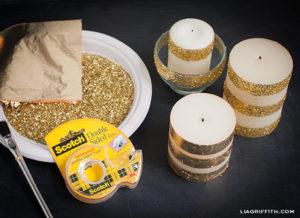 Velas decoradas con diamantina para navidad - Velas decoradas para navidad ...