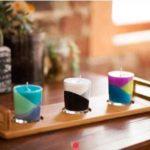 como hacer velas artesanales de colores