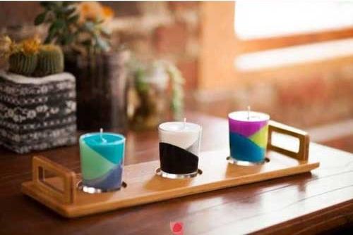 Como hacer velas artesanales de colores for Como hacer velas decorativas