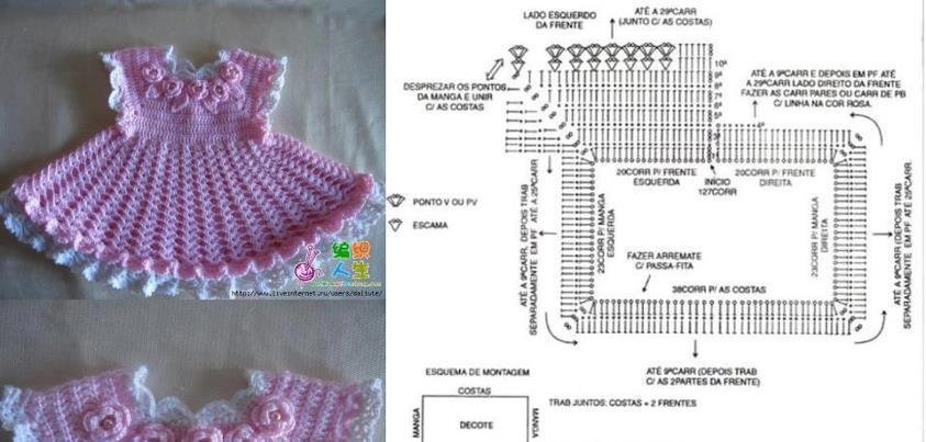 vestidos bebe crochet patrones gratis
