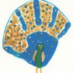 Cómo convertir huellas de manos en animales del zoológico