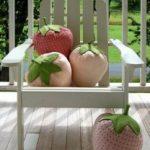 Almohadones de fresas
