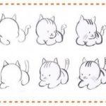 Como dibujar gatos bebes