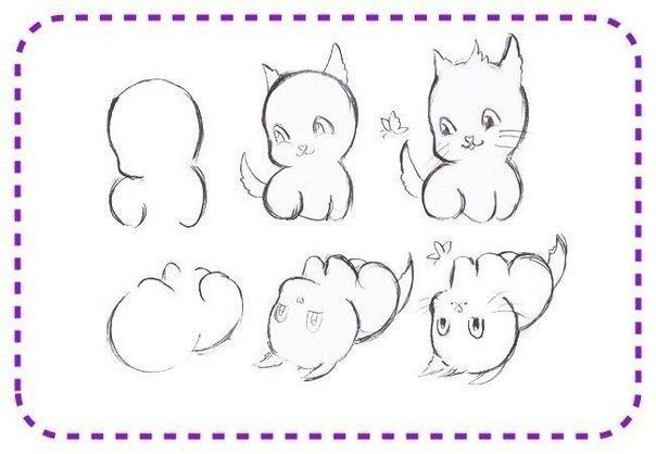 Dibujos de gatos bebés - Imagui