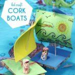 Como hacer barcos con corcho y fomi