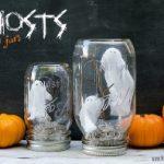 Como hacer fantasmas dentro de frascos para Halloween