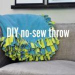 Como hacer un cobertor con flequillo sin costuras